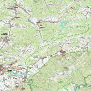 Mapa regiónu Malá Fatra